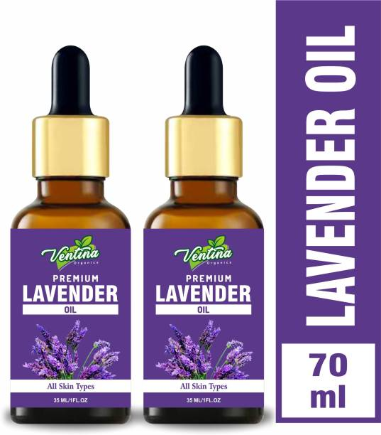 Ventina Organics Best Lavender Essential Oil, 100% Natural & Pure, for Hair, Skin, Face (70 ml)