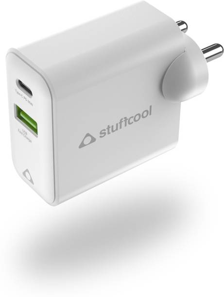 STUFFCOOL Napoleon PD65W Dual USB GaN Wall Charger for MacBook, Ultrabook, iPhones, iPads, Tablets, Gaming Consoles 3.4 A Multiport Tablet Charger