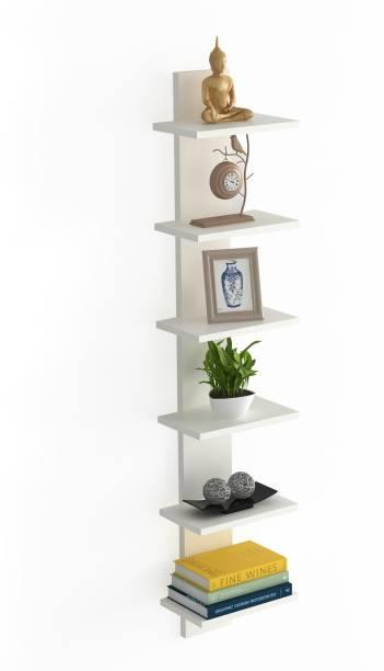BLUEWUD Louis Engineered Wood Open Book Shelf