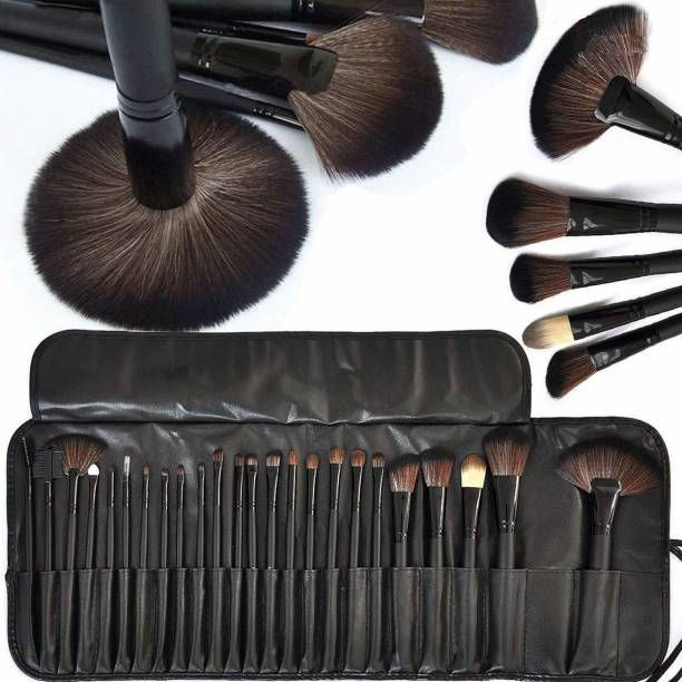 BELLA HARARO Professional Wood Make Up Brushes Sets With Leather Storage Pouch