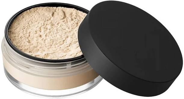 LAVIO R Smooth Loose Powder Makeup Transparent Finishing Oil Control Waterproof For Face Finish Setting With Cosmetic Puff Compact P5 Compact
