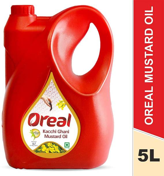 Oreal 100% Pure Kacchi Ghani Mustard Oil For All Ages With 0% Cholestrol ,Preservative Free Cooking Oil Mustard Oil Can