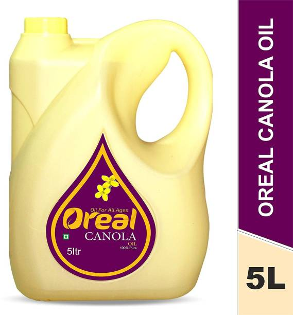 Oreal 100% Pure Canola Oil For All Ages Rich in Omega -3 ,Preservative Free Cooking Oil Canola Oil Can