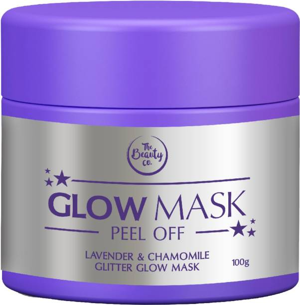 The Beauty Co. Lavender and Chamomile Glitter Glow Mask for Beautiful Skin