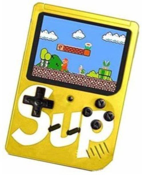 Technuv SUP GAME 400 in 1 Retro Game Box Console Handheld Video Game box with TV output Mario 8 GB with Mario/Super Mario/DR Mario/Contra/Turtles and other 400 Games 2 GB with contra, mario, turtle with USB RECHARGER 2 GB with Mario/Super Mario/DR Mario/Contra/Turtles