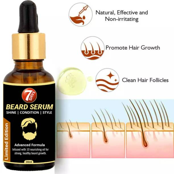7 Days Beard growth serum for shin & style