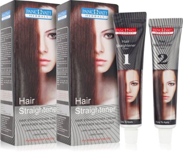 panchvati Herbals Hair Straightener Cream combo pack of 2 (120 * 2 ML) For Women Hair Cream