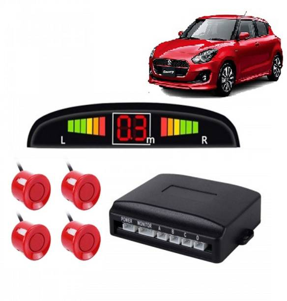 CARZEX Reverse Car Parking Sensor Led Display Black for All Car Numeric display of distance from obstacle Product RED Reverse Car Parking Sensor Led Display Black for All Car Numeric display of distance from obstacle Product RED Parking Sensor