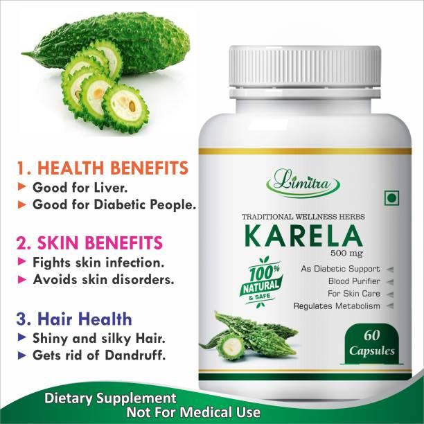 Limitra Karela,Blood Purifier Regulates Metabolism 100%% Natural