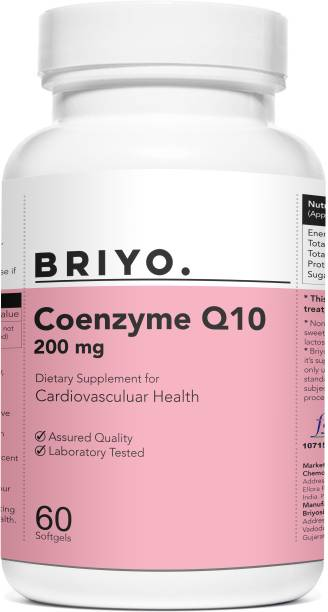 BRIYOSIS CoQ10 - Coenzyme Q10 60 Softgels Formulated To Provide Superior Absorption
