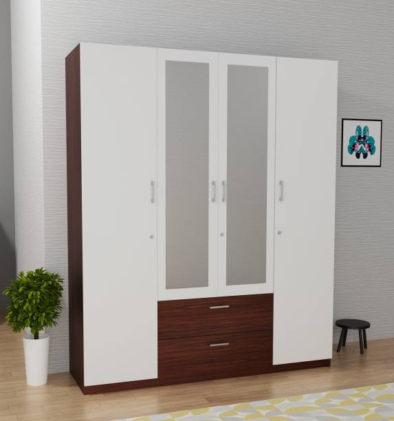 Barewether Engineered Wood 4 Door Wardrobe