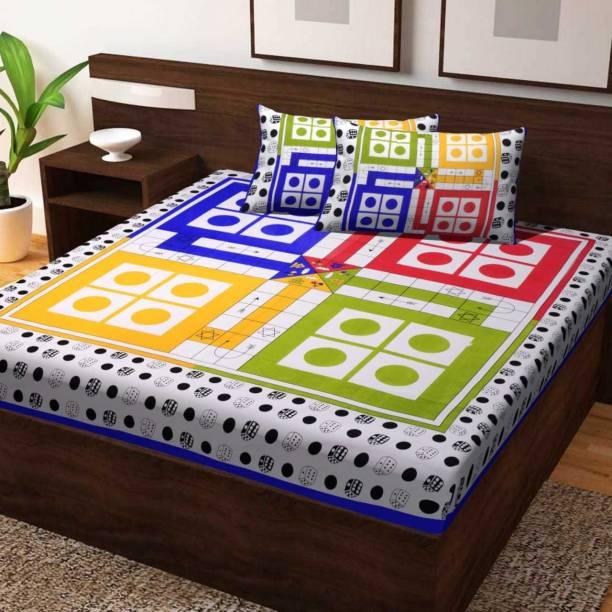 Roop Govind 100 TC Cotton Double Jaipuri Prints Bedsheet