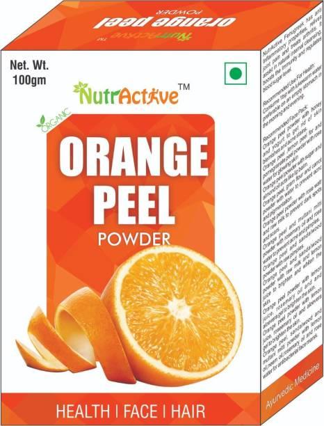 NutrActive Pure Vitamin C Orange Peel Powder For Skin Whitening 100 Grams.(Santra Chilka)