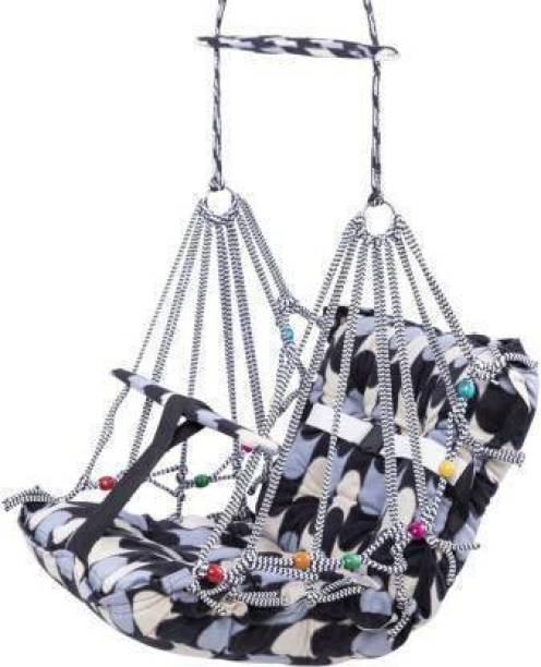 Gunatit Enterprise Comfortable Cotton Baby Swing for Kids/Babies up to 15KG with safety belt (Multicolor)