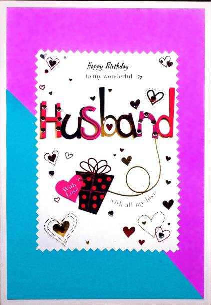 AanyaCentric Husband Birthday Handmade Greeting Card