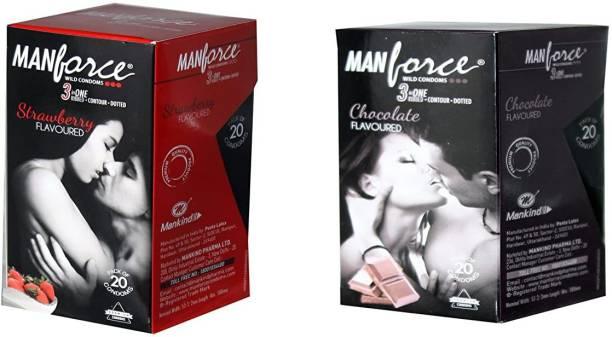 MANFORCE EM0262_MF_20S_P_chocolate_strawberry_40S_EM Condom
