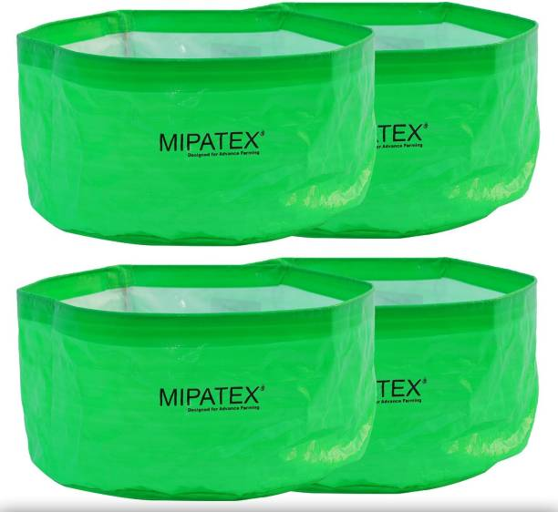 Mipatex Woven Fabric Grow Bags 12in x 6in, Heavy Duty Plant Pot Fruits Vegetable, Terrace Home Kitchen Gardening Bags (Pack of 4) Grow Bag