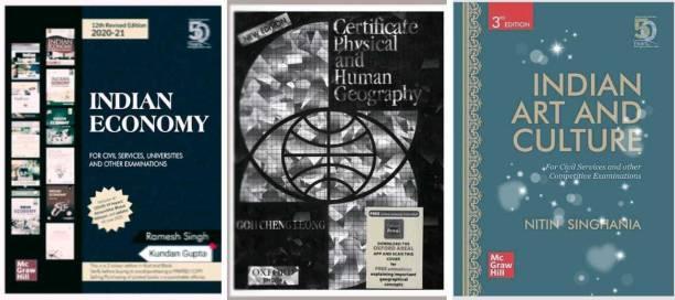 New Indian Economy And And Human Geography And Indian Art And Culture (Ramesh Singh ,g C Liyon ,nitin Singhania English Me Upsc Bpsc Ias Exam Prep ) Kundan Gupta
