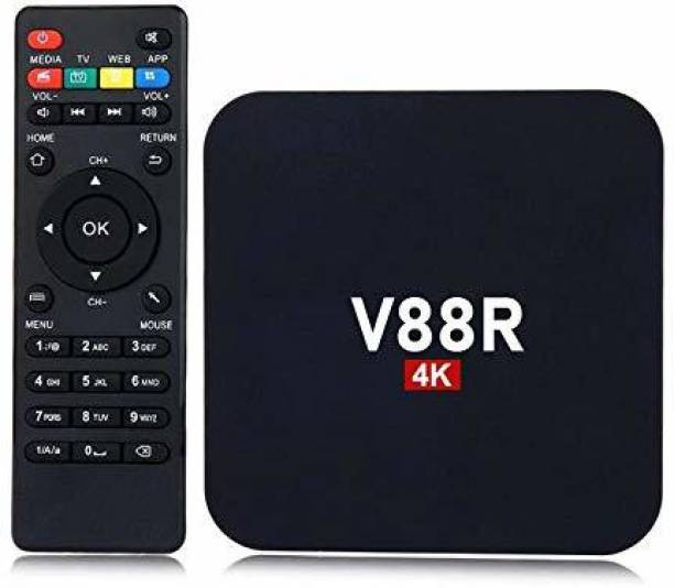 AUSHA Android TV Box 4K Ultra HD Smart Streaming Media Player Smart Box V88R Multimedia Gateway Internet TV 2GB RAM 16GB ROM Media Streaming Device Media Streaming Device