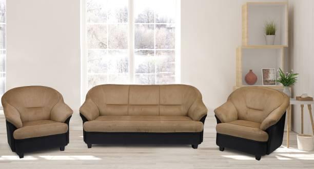 Flipkart Perfect Homes Knight Fab Fabric 3 + 1 + 1 Beige Sofa Set
