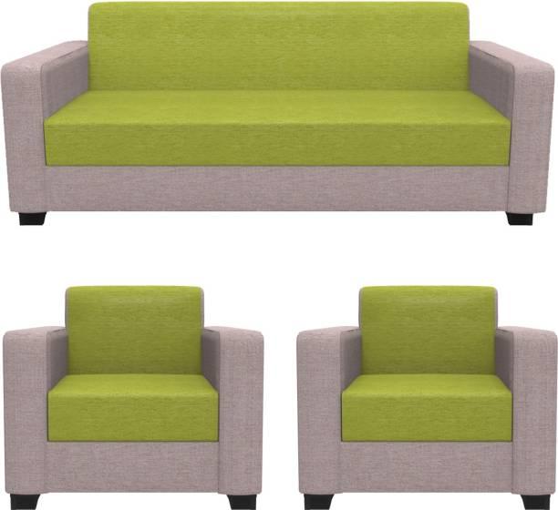 Rajgarhwala Furnitures RF 807 Fabric 3 + 1 + 1 Flourescent Peach Sofa Set
