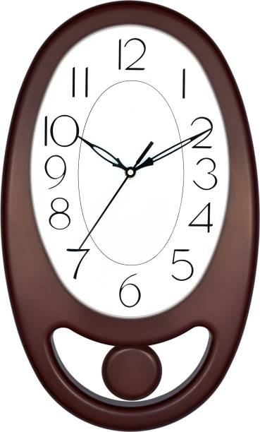 Masstone Analog 40 cm X 24 cm Wall Clock