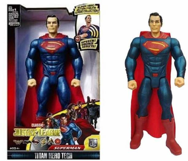 Richuzers Justice League Titan Hero Superman 12 Inch Super Hero Action Figure Toy with Light And Sound - Premium Quality & Finish