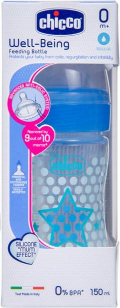 chicco WB PP BOTTLE 150ML BLUE STAR - SIL IN - 150 ml