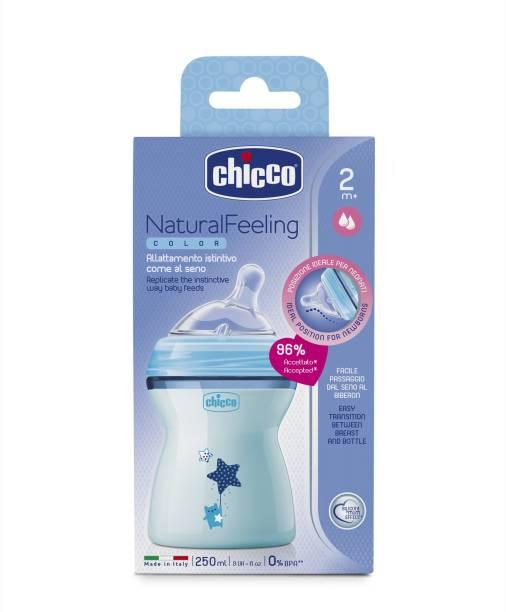 chicco Naturalfeeling Fbottle 2M+ 250Ml Bluecol - 250 ml