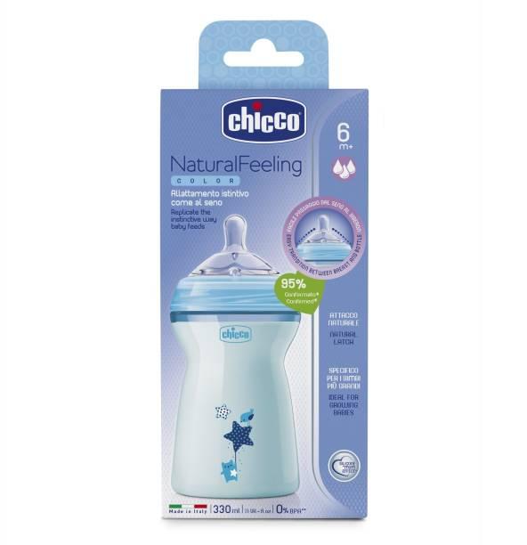 chicco Naturalfeeling Fbottle 6M+ 330Ml Bluecol - 330 ml