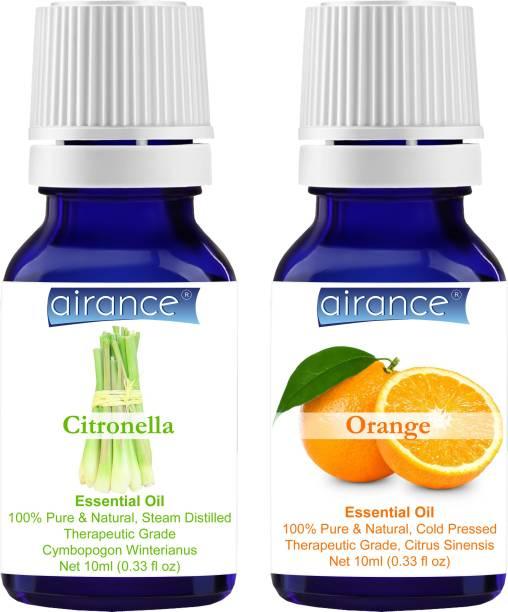 Airance Citronella & Orange CERTIFIED ORGANIC Essential Oil, 100% Pure & Natural, Therapeutic Grade