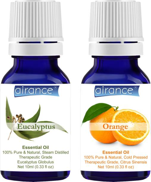 Airance Eucalyptus & Orange CERTIFIED ORGANIC Essential Oil, 100% Pure & Natural, Therapeutic Grade