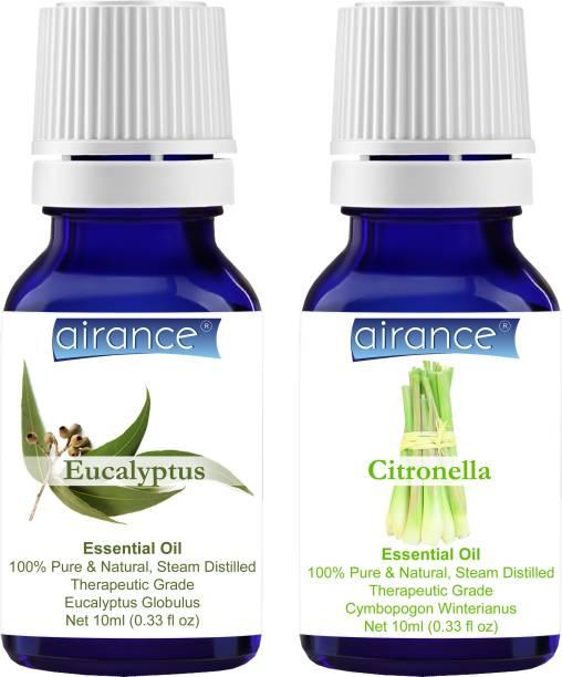 Airance Eucalyptus & Citronella CERTIFIED ORGANIC Essential Oil, 100% Pure & Natural, Therapeutic Grade