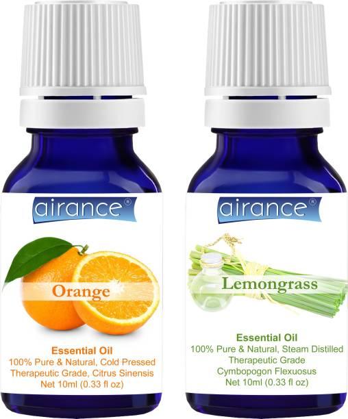 Airance Orange & Lemongrass CERTIFIED ORGANIC Essential Oil, 100% Pure & Natural, Therapeutic Grade