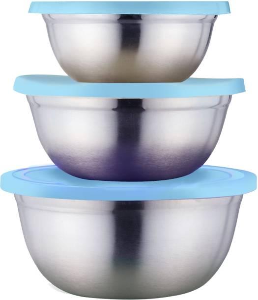 Classic Essentials Container set of 3, 700ml, 1000ml, 1400ml  - 700 ml, 1000 ml, 1400 ml Steel, Plastic Utility Container