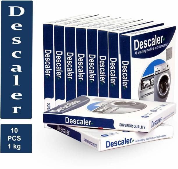 DESCALER Powder for All Washing Machines (Samsung, Whirlpool, Lg, IFB, Bosch, Haier, Godrej) (Washing Machines and Dishwashers) Stain Remover Pack of 10 x 100gms, 1 Kg Detergent Powder 1000 g