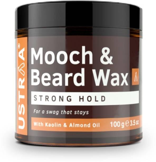 USTRAA Beard & Mooch Wax - Strong Hold - 100g Beard Gel