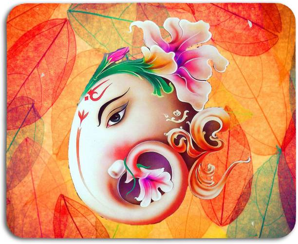 Studio Shubham ganesha leaves anti skid mouse pad for laptop / mouse pad for computer / mouse pad for gaming / mouse pads for pc Mousepad