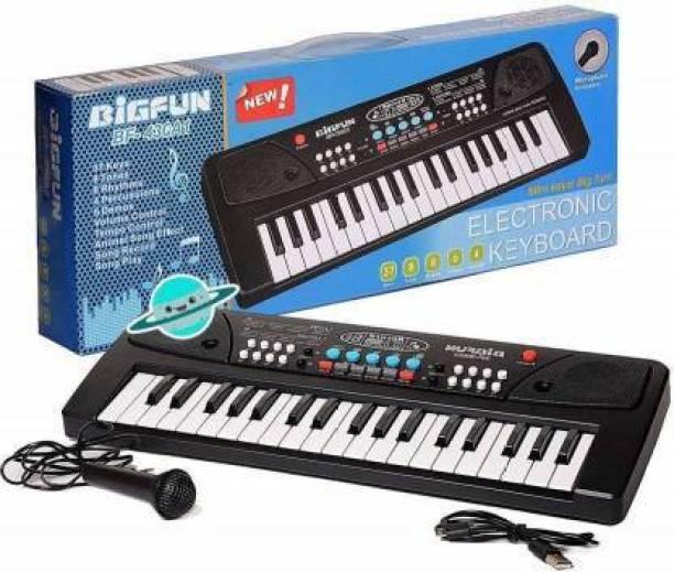 AMCollection Key Piano Keybt For Kids (Black) (Black)