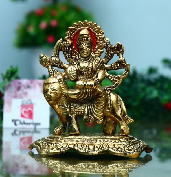 Chhariya Crafts Durga Maa Murti Decorative Showpiece  -  14 cm