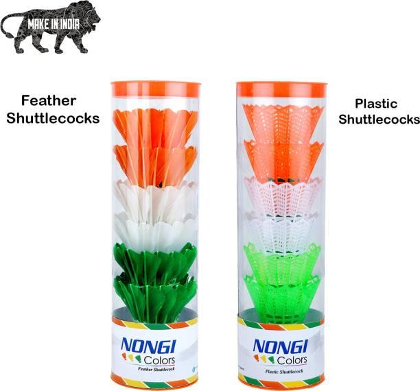 Nongi COLORS Plastic and Feather Shuttle  - Multicolor