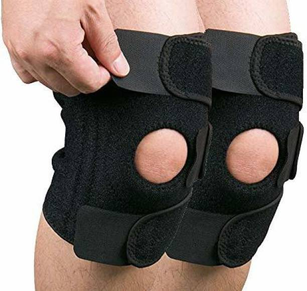 LUHI Hinged Knee Braces for Men/Women Non-Slip Silicone Gel for Running Sports -(Pair) Knee Support