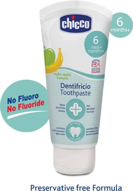 chicco Toothpaste Applebanana 6M+ No Fluoride Toothpaste