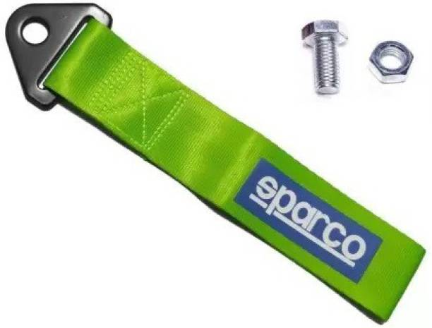 SmartFasionZ SPARCO -GREEN - TOW Car Auto Trailer Tow Strap Short Loop Set Kit with Bumper Hook Universal 0.2 m Towing Cable