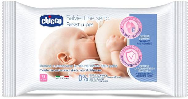 chicco Cleansing Breast Wipes (72 Pcs)