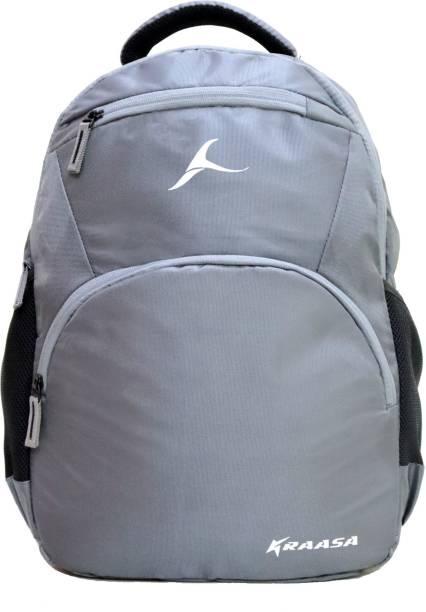 Kraasa Polo Grey Zipper 35 L Backpack