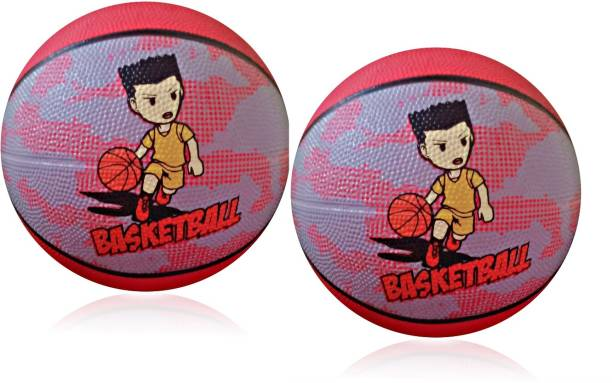 LIVE Kids 5-18 Years (Pack of 2 Ball) Basketball - Size: 3