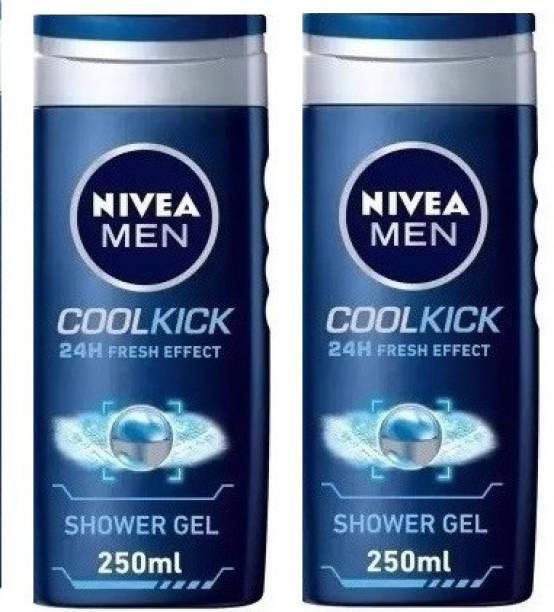 NIVEA COOL KICK SHOWER GEL 2 PC