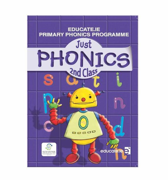 Just Phonics: Brain Boosting Activity Book Class 2nd, Match the Pair, Find the Difference, Maze, Crossword