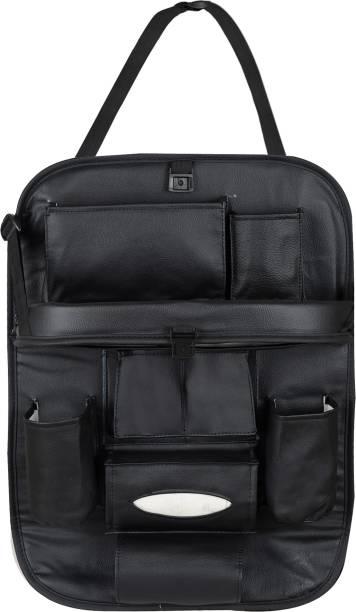 akhilesh PU Leather Car Back Seat Organizer Storage Bag & Bin Car Multi Pocket